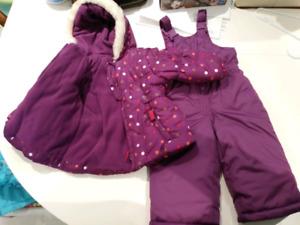 Girls 12 months snowsuit