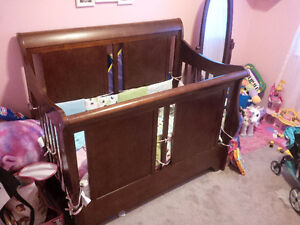 Great Wooden Baby Crib/ Converts to Double Bed