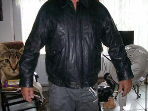 manteau en cuir médiun