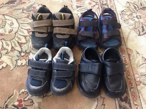 Lot of Size 4-5 Boys Shoes and Sandals