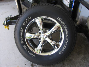 Summer Tires on Chrome Wheels