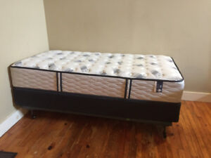 SINGLE PILLOW TOP MATTRESS, BOX SPRING AND FRAME FOR SALE