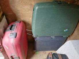 Three Hard Back Suitcases