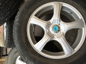 BF Goodrich Winter Tires with Rims for Toyota Highlander.