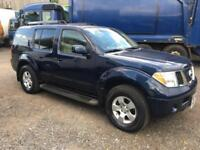 LHD LEFT HAND DRIVE 2007 NISSAN PATHFINDER 4.O PETROL 7 SEATS UK REGISTERED 4X4