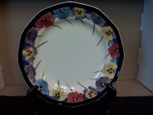 "Rare 1920's Doulton Art Deco ""Pansy"" Pattern Salad Plate"