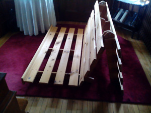 Wooden FUTON frame! Like new! (Mattress also available.)
