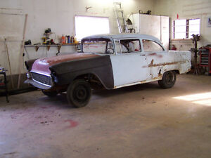 55 chev project car