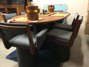 MID CENTURY TEAK DINING SET - Live In Retro!
