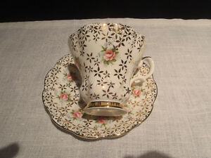 Antique Bone China Teacups and Saucers Kitchener / Waterloo Kitchener Area image 2