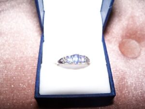 Ring, Tanzanite 10K White Gold, BRAND NEW, Size 7, exc cond,