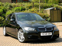 2009 58 Reg BMW 325d M Sport 3.0 Auto WITH LEATHER+FSH+PRIVACY GLASS+PDC