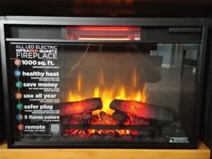 Brand New Infrared Electric Fireplace Insert with LED and Remote