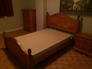 REDUCED MOVING SALE: Bed Set/ Couches/ Table with Chairs
