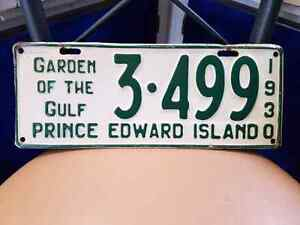1930 garden of the gulf liscence plate