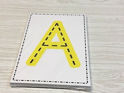 A - Z Uppercase And Lowercase Tracing Letter Cards - 52  Large Cards Preschool  -