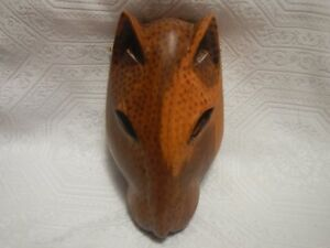 Vintage African Wooden Panther Mask