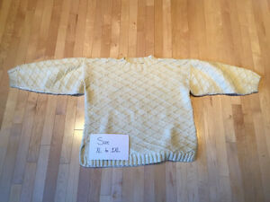 Knitted Sweater Cream Colour XL to 2XL
