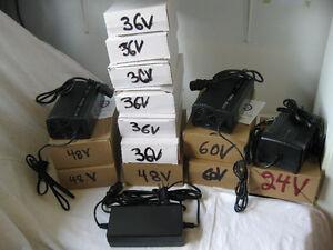 Tout les Chargeur 24-36-48-60-72V et les Batteries Scooter,Vélo