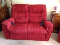 Two seater sofa and chair - recliners