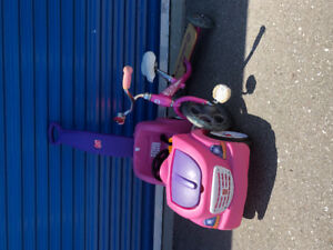 Girls Trike and Push Buggy