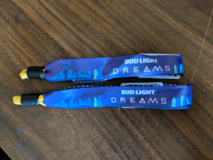 Pair of Bud Light Dreams 2-Day Weekend Wristbands $150 each
