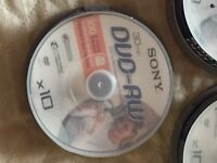 Sony re recordable DVDs-rw x35