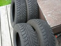 """4 -185 65 15"""" all weather winter tires"""