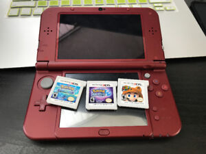 3ds with charger and 3 games