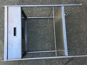 IKEA stainless steel kitchen island