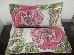 2 coussins Water Wood Sky 100 % coton 26'' x 13''