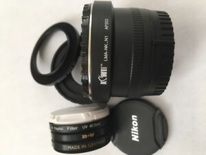 Nikon 1 System: Lens & Camera Cups, Filters, Hood, Adapter Rings