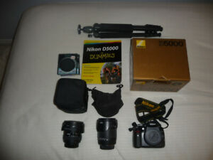 Nikon D5000 SLR Camera with Accessories