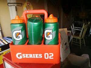 Gatorade bottles and carrier