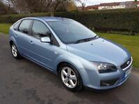 FORD FOCUS 1.6 ZETEC CLIMATE - 5 DOOR - 2007 - BLUE ** NEW SHAPE **