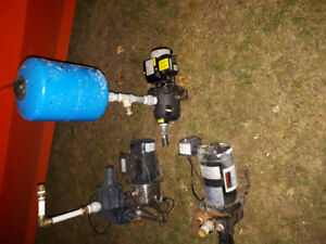 1/2 hp and 3/4 hp shallow jet pumps $500 obo
