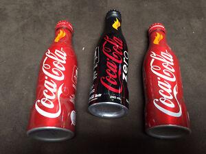 3 bouteilles Coke Vancouver 2010 à collectionner
