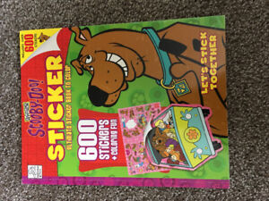 Scooby Doo colouring book and crayons with over 600 stickers