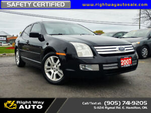 2007 Ford Fusion SEL | LEATHER | SAFETY CERTIFIED