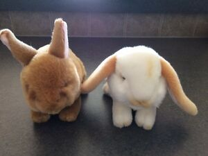 Two Plush Easter Bunny stuffies