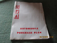PURCHASE PLAN BOOK WITH PRICES OF CARS ETC. 1970