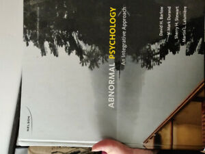 Abnormal psychology textbook, 4th edition, Barlow