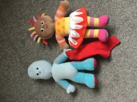 Taking Igglepiggle and Upsy Daisy