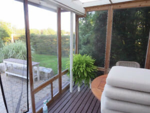 Screened Cedar Deck Wall & Door