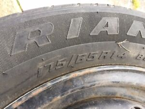4 Winter tires with steel rims