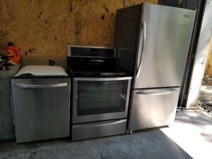 Refrigerateur 22 Pi C /Cuisiniere Induction-Convection/Lav-Vaiss