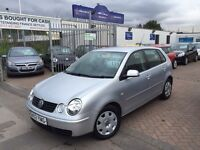 2002 (02) VW POLO 1.2. WILL BE SOLD WITH NEW MOT. LOW MILEAGE. BARGAIN.