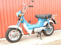 HONDA CHALEY 1973 70CC BLUE AND WHITE GREAT MOTORHOME CLASSIC MOTORCYCLE