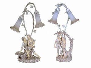 Brand new collectible Victorian figurine table Tiffany lamps