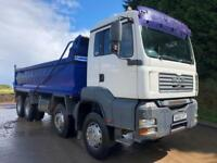 2010 60 MAN TG-A 35.400 8x4 Thompson steel tipper manual gearbox weigher